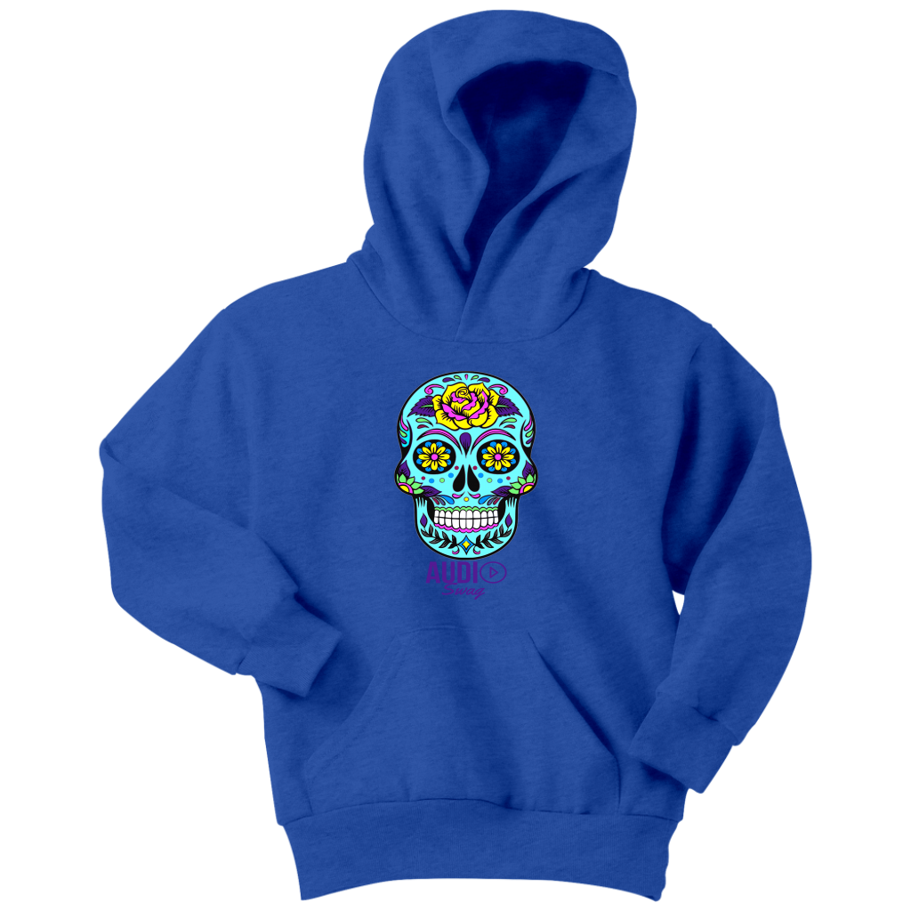 Sugar Skull Rose Youth Hoodie - Audio Swag