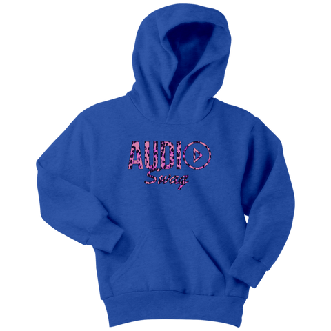 Audio Swag Pink Cheetah Logo Youth Hoodie - Audio Swag