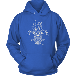 Faith Love Loyalty Skull Hoodie - Audio Swag