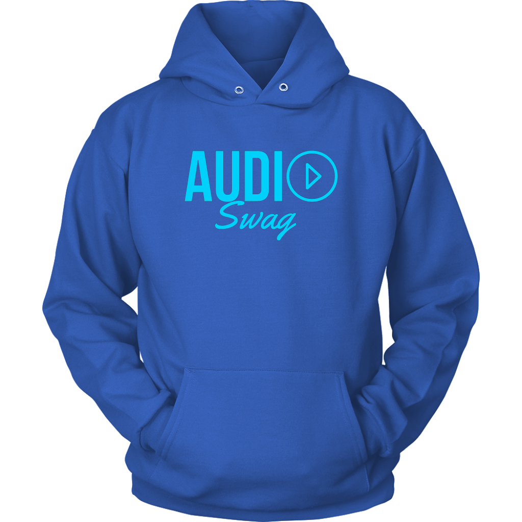 Audio Swag Blue Logo Hoodie - Audio Swag