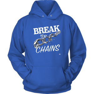 Break The Chains White Hoodie - Audio Swag