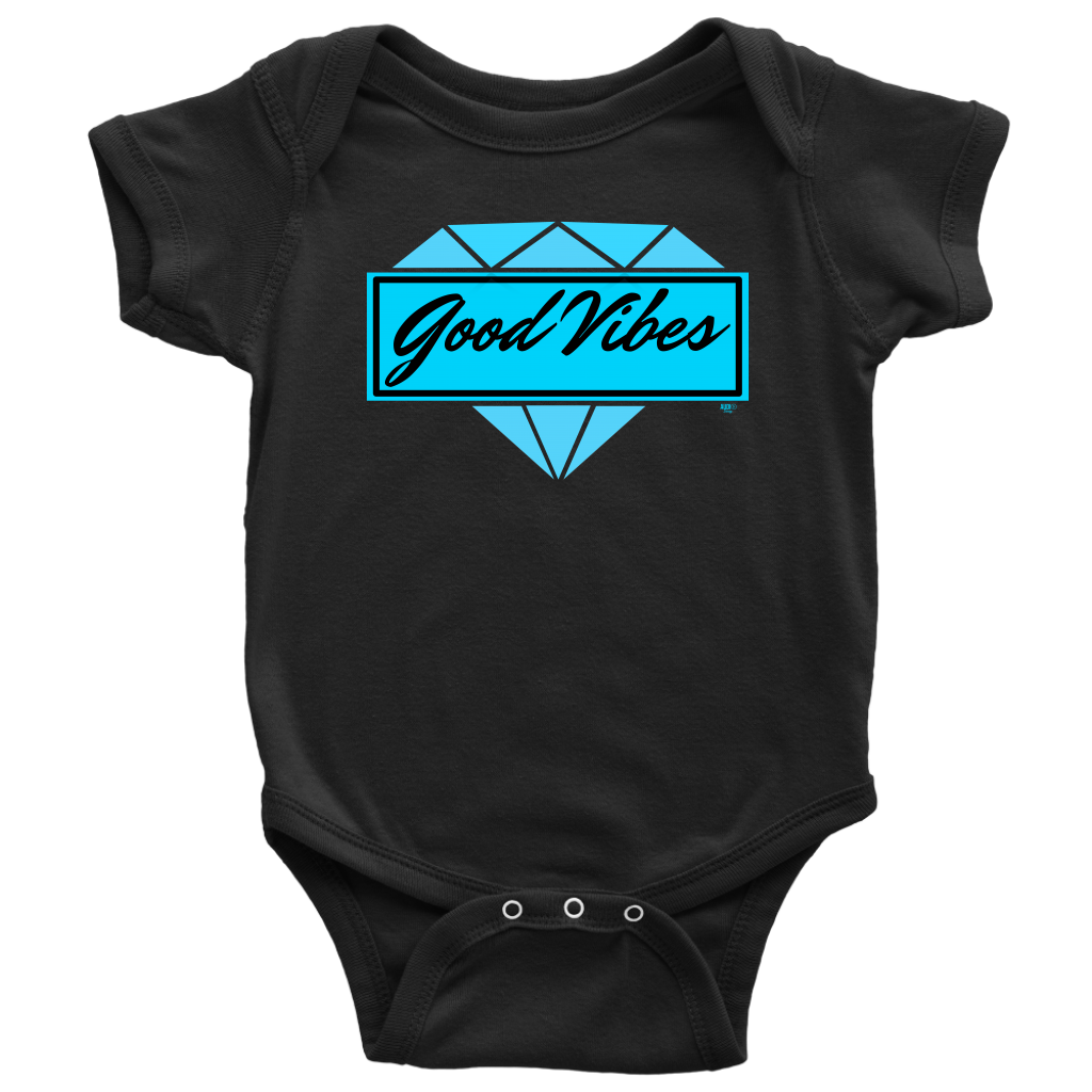 Good Vibes Diamond Baby Bodysuit - Audio Swag