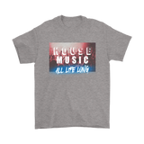 House Music All Life Long Mens Tee - Audio Swag