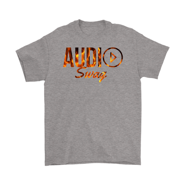 Audio Swag Fire Logo Mens T-shirt - Audio Swag