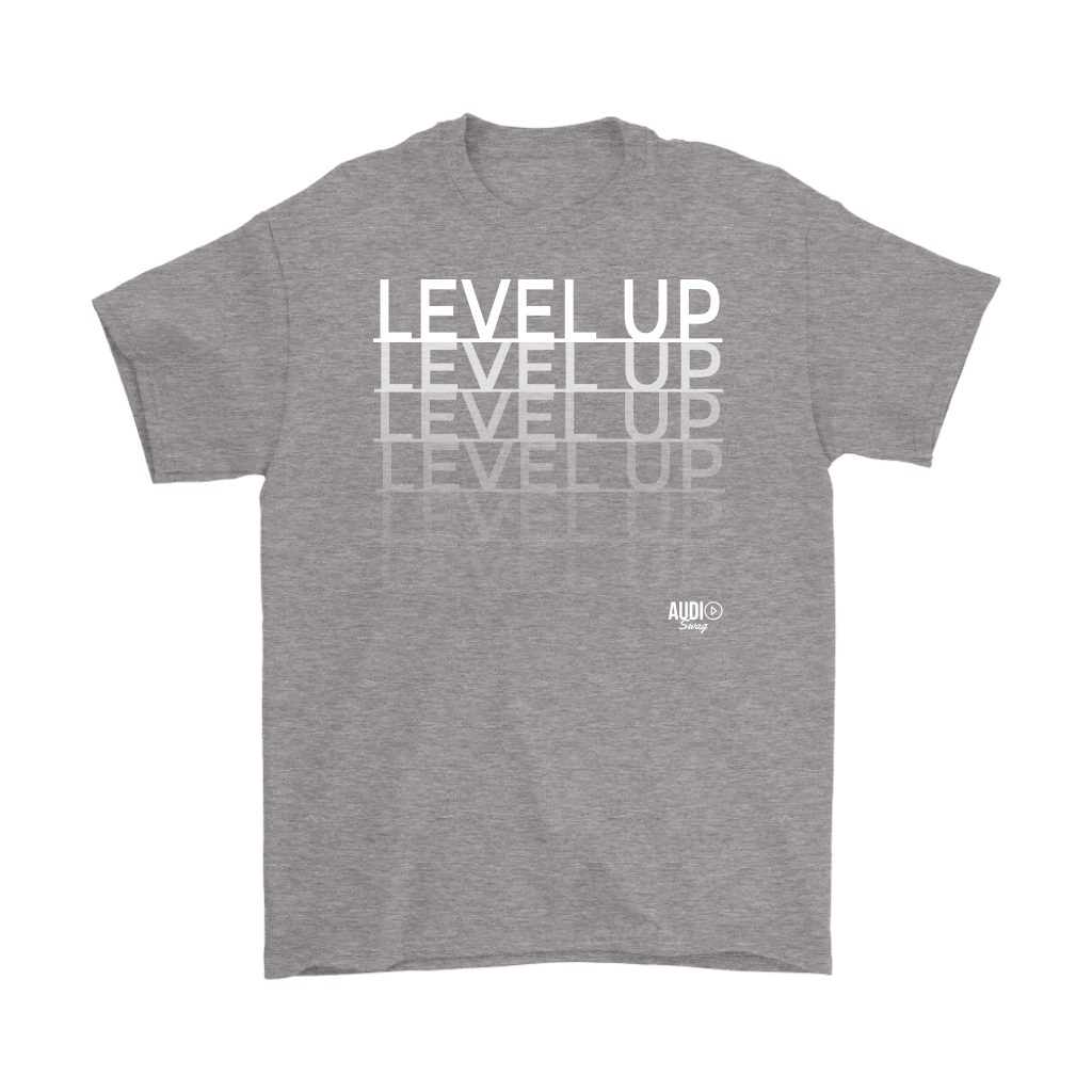Level Up Fade Mens T-shirt - Audio Swag