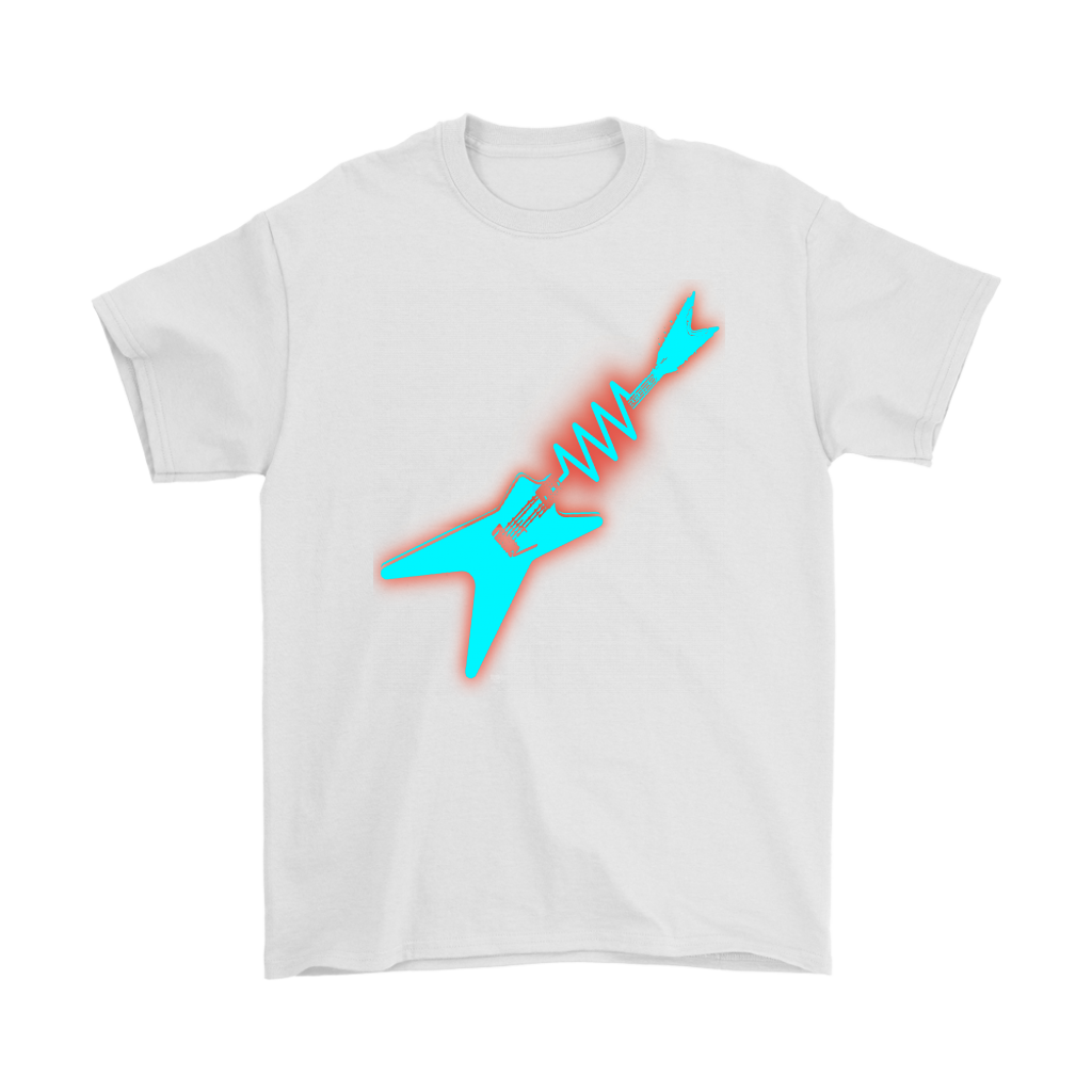 Neon Electric Guitar Mens Tee - Audio Swag