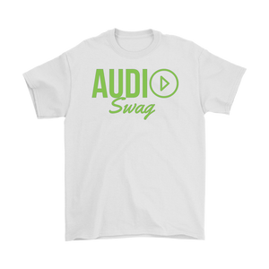 Audio Swag Green Logo Mens T-shirt - Audio Swag