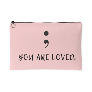 Semicolon You Are Loved Large Accessory Pouch - Audio Swag