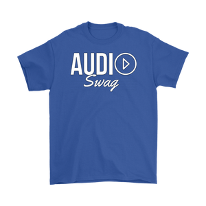 Audio Swag White Logo Mens T-shirt - Audio Swag