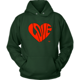 Love Heart Graphic Hoodie