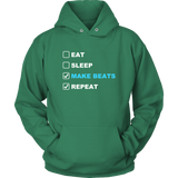 Eat Sleep Make Beats Repeat Hoodie - Audio Swag