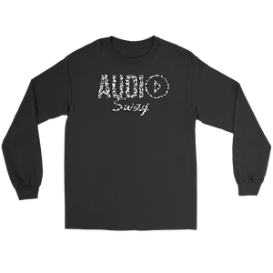 Audio Swag White Cheetah Logo Long Sleeve T-shirt - Audio Swag