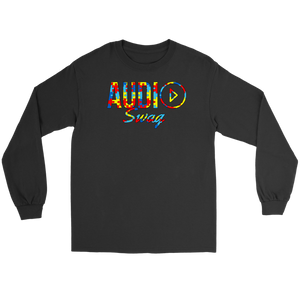 Audio Swag Autism Awareness Puzzle Logo Long Sleeve T-shirt - Audio Swag