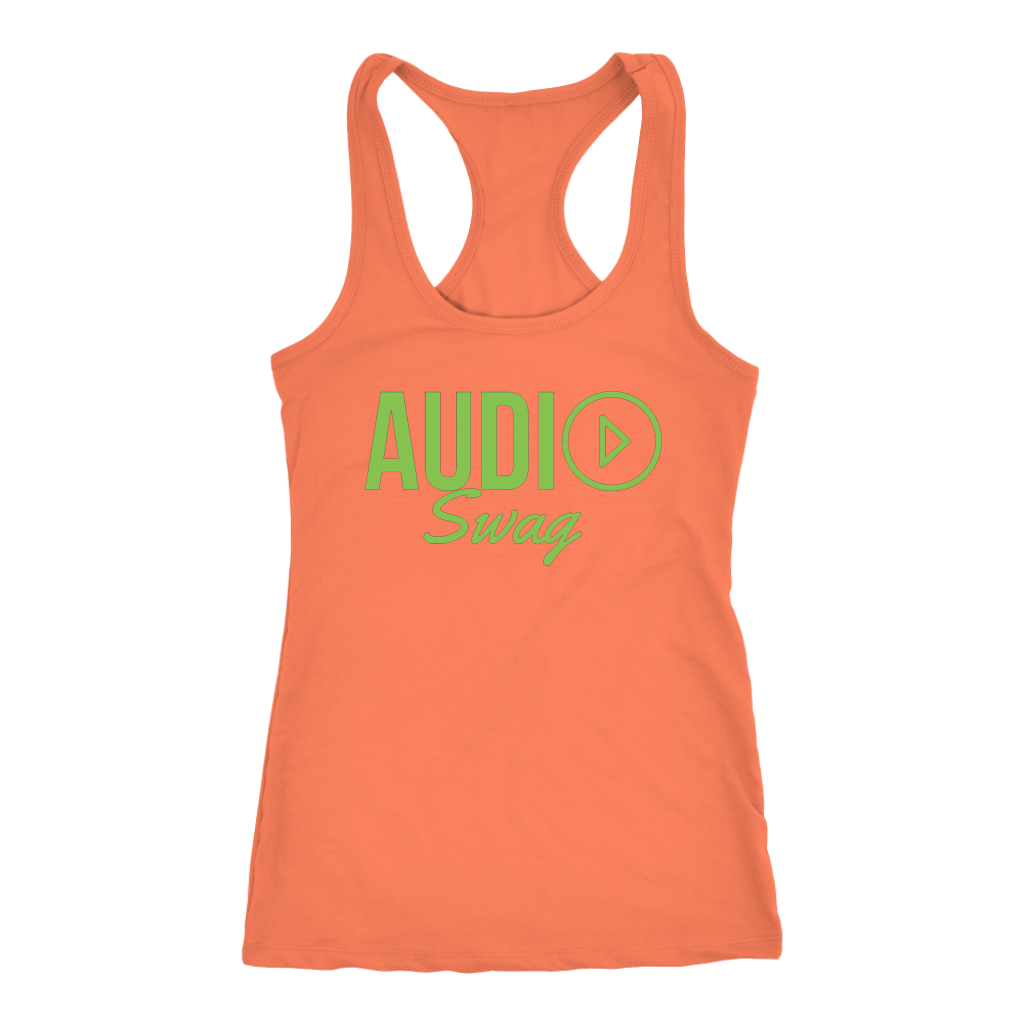 Audio Swag Green Logo Ladies Racerback Tank Top - Audio Swag