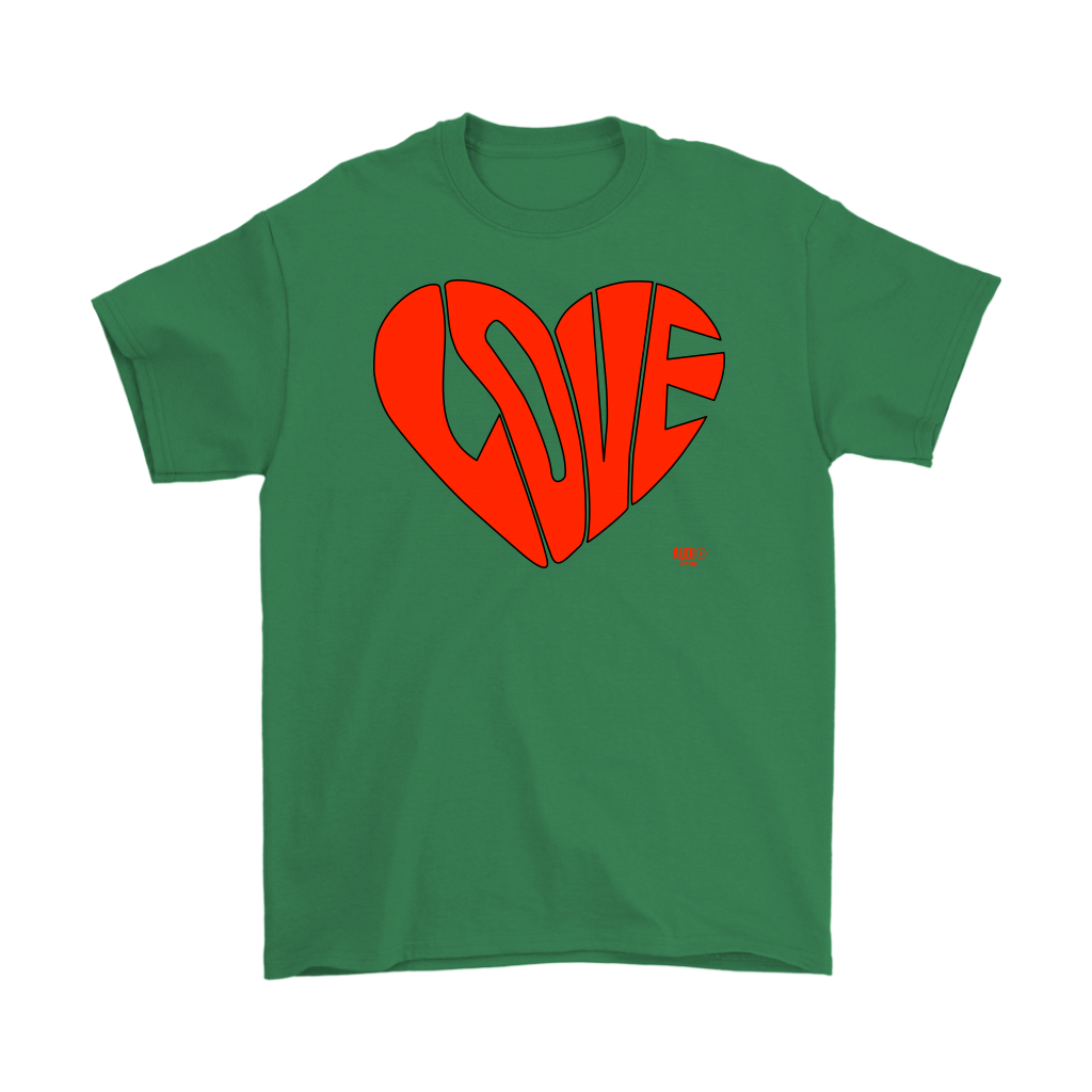 Love Heart Graphic Mens T-shirt - Audio Swag