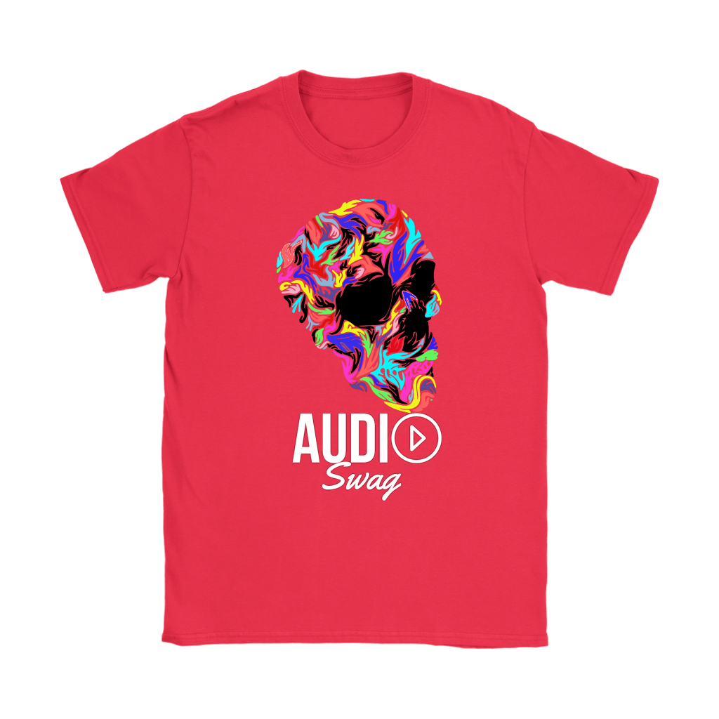 Bright Skull Ladies T-shirt - Audio Swag