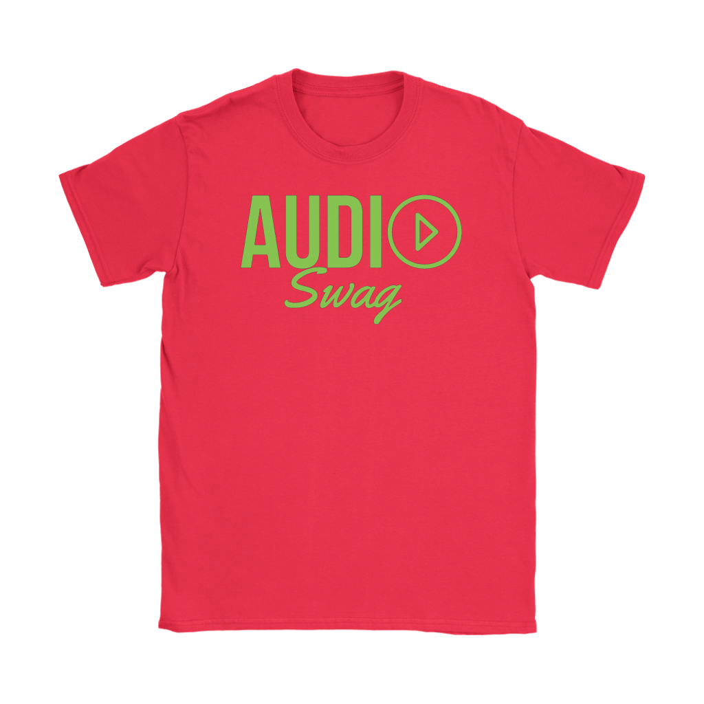 Audio Swag Green Logo Ladies T-shirt - Audio Swag