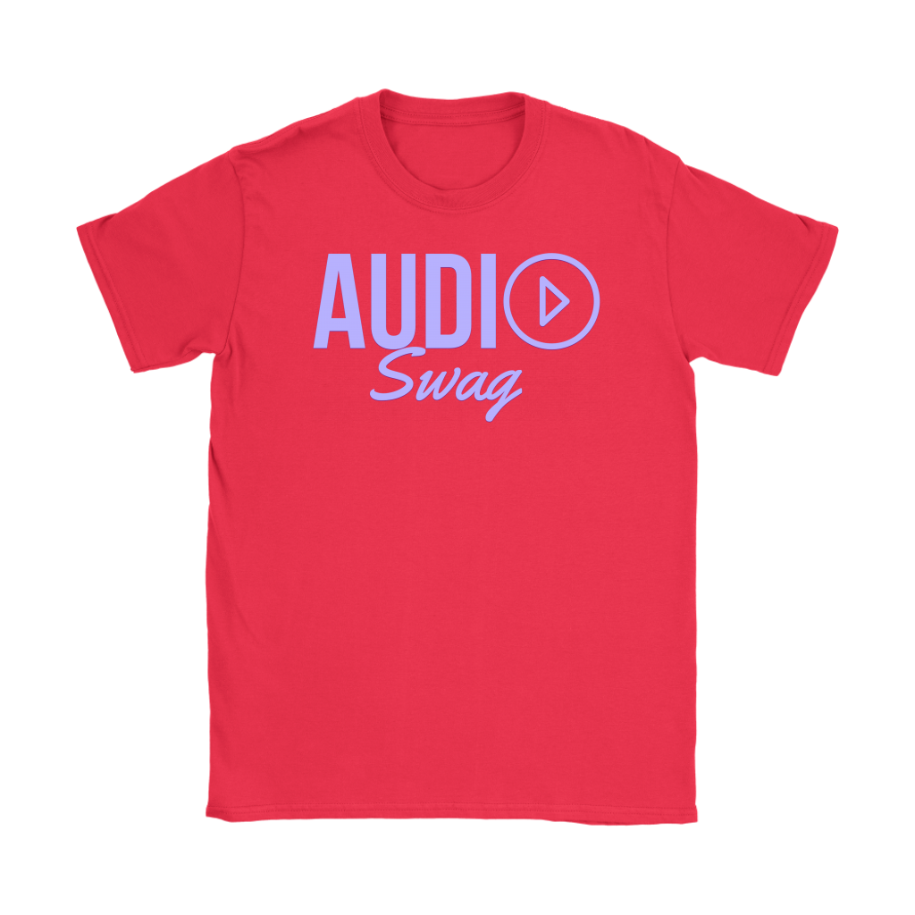 Audio Swag Lavender Logo Ladies T-shirt - Audio Swag