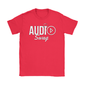 Audio Swag Music Logo Ladies T-shirt - Audio Swag