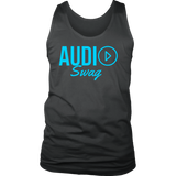 Audio Swag Blue Logo Mens Tank Top - Audio Swag