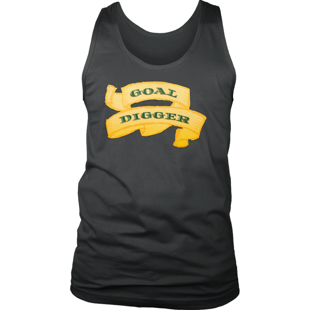 Goal Digger Mens Tank Top - Audio Swag