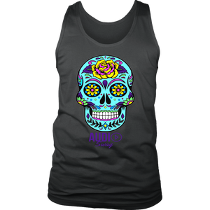 Sugar Skull Rose Mens Tank Top - Audio Swag