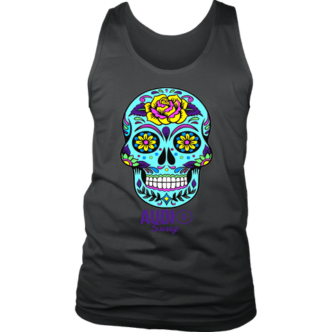 Sugar Skull Rose Mens Tank Top