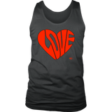 Love Heart Graphic Mens Tank Top - Audio Swag