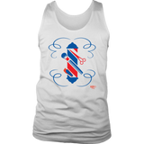 Barber Hairstylist Tools Graphic Mens Tank Top - Audio Swag