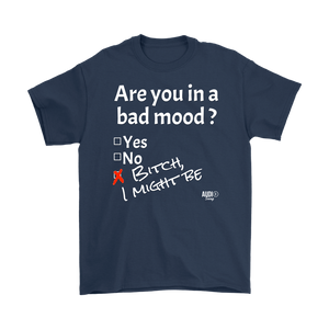 Are You In A Bad Mood Mens T-shirt - Audio Swag