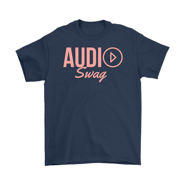 Audio Swag Peach Logo Mens T-shirt - Audio Swag