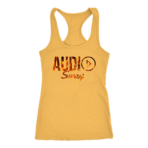Audio Swag Fire Logo Ladies Racerback Tank Top - Audio Swag