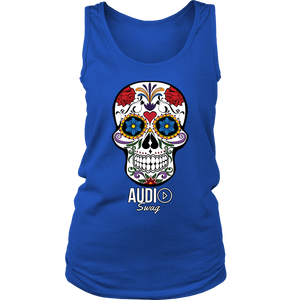 Sugar Skull Audio Swag Ladies Tank Top
