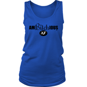Ambitchious AF Ladies Tank Top - Audio Swag
