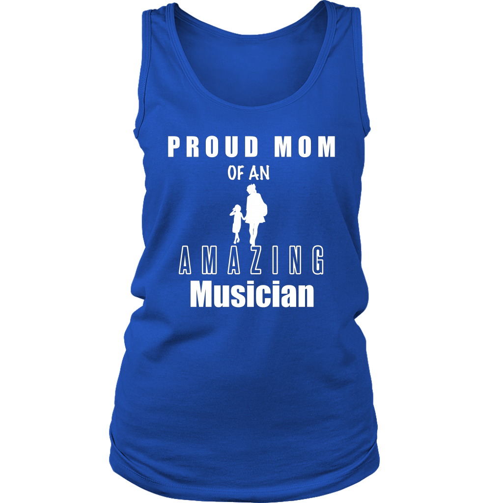 Proud Mom of an Amazing Musician Ladies Tank - Audio Swag