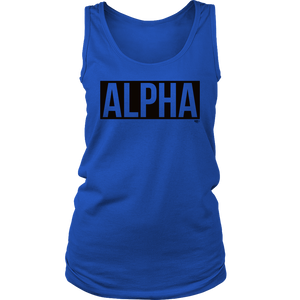 Alpha Ladies Tank Top - Audio Swag