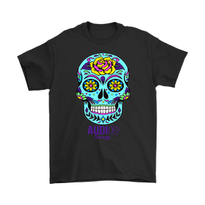 Sugar Skull Rose Mens T-shirt - Audio Swag