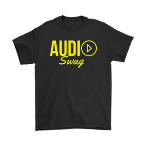 Audio Swag Yellow Logo Mens T-shirt - Audio Swag