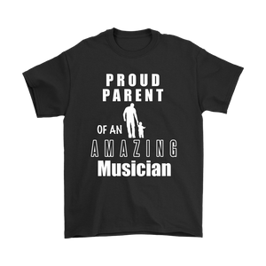 Proud Parent of an Amazing Musician Mens Tee - Audio Swag