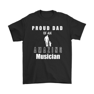 Proud Dad of an Amazing Musician Mens Tee - Audio Swag