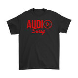 Audio Swag Red Logo Mens Tee