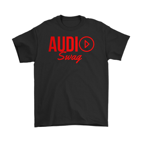 Audio Swag Red Logo Mens Tee - Audio Swag