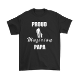 Proud Musician Papa Mens Tee - Audio Swag