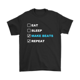 Eat Sleep Make Beats Repeat Mens T-shirt - Audio Swag