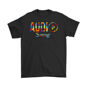 Audio Swag Autism Awareness Puzzle Logo Mens T-shirt - Audio Swag