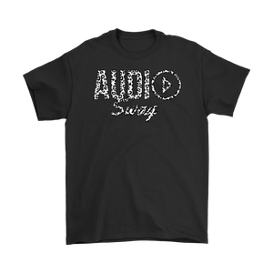 Audio Swag White Cheetah Logo Mens T-shirt - Audio Swag