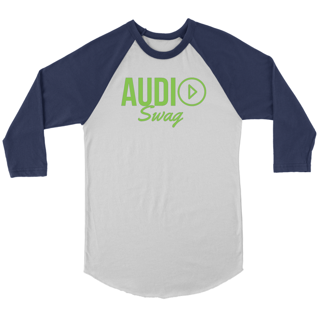 Audio Swag Green Logo Raglan - Audio Swag