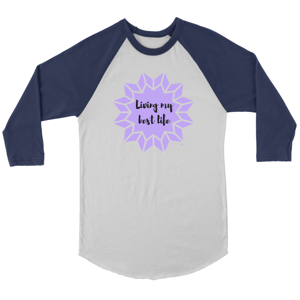 Living My Best Life Raglan - Audio Swag