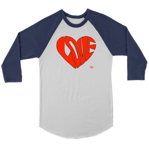 Love Heart Graphic Raglan