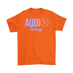 Audio Swag Lavender Logo Mens T-shirt - Audio Swag